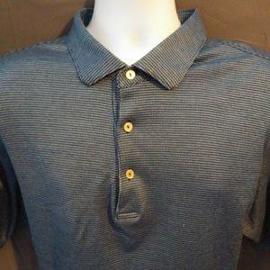 Peter Millar Blue and Black Polo Shirt